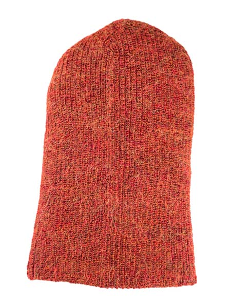 Milkshake Hat 100% Alpaca, Rust, winter Hats for the whole family