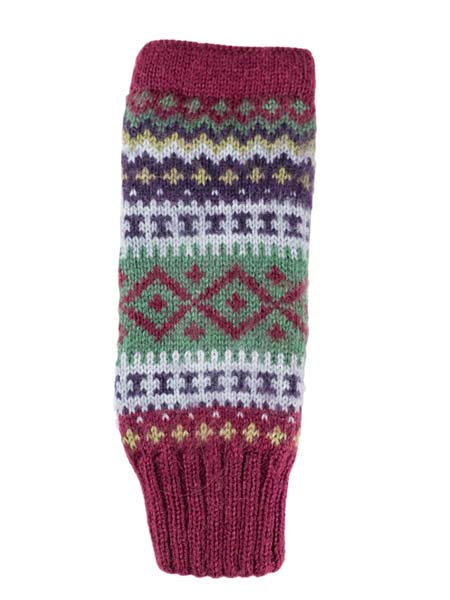 Sierra Arm Warmer, Berry, Alpaca Blend, winter wrist warmers for the whole family