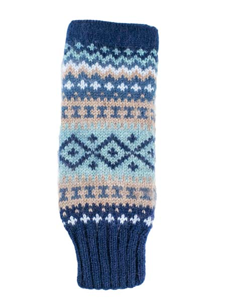 Sierra Arm Warmer, Navy, Alpaca Blend, winter wrist warmers for the whole family