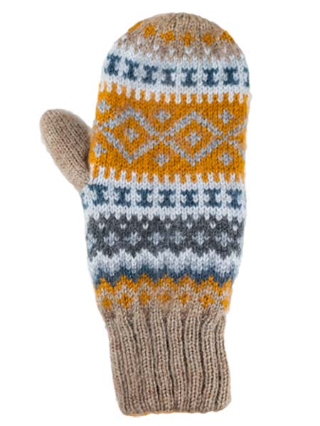 Sierra Mittens, Ash, Alpaca Blend, winter Mittens for the whole family