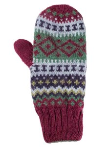 Sierra Mittens, Berry, Alpaca Blend, winter Mittens for the whole family