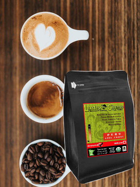 Fair Trade Organic Certified Peru City Light Roast Lucky Chango Specialty Coffee