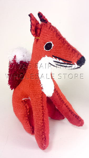Red Fox 100% Natural Wool Stuffed Toys Woolly Amigos