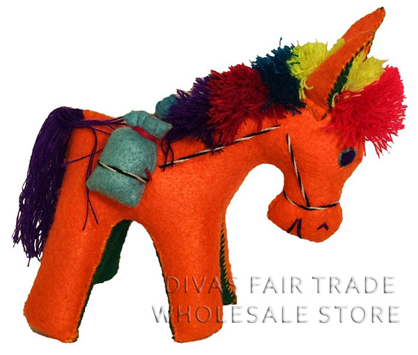Donkey 100% Natural Wool Stuffed Toys Woolly Amigos