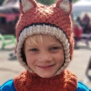 Animal Hoods Fox Balaclava, Open face, Alpaca Blend winter Balaclava for the whole family