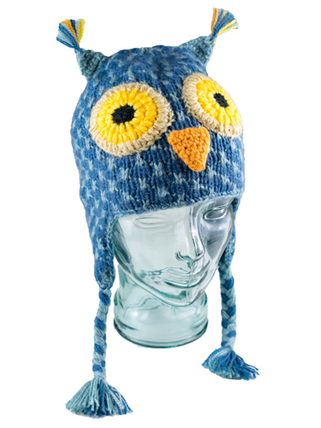 Animal Kids Blue Owl Hat