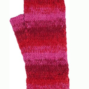 Awana Wrist Warmer, Red 100% Alpaca, winter wrist warmers for the whole family