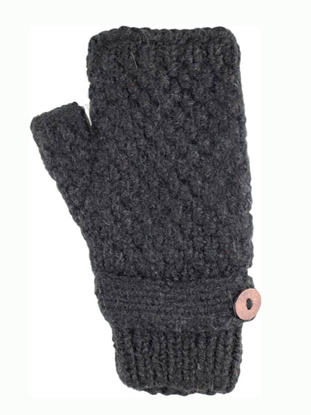 Button Wrist Warmer, Black Alpaca Blend, winter wrist warmers for the whole family