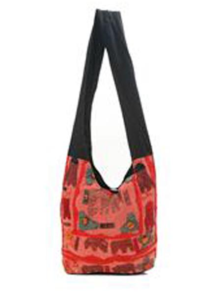 Sling peach Elephant Bag