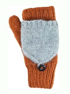 Flitten Convertible Mitten, Brown. Alpaca Blend, winter Mittens for the whole family
