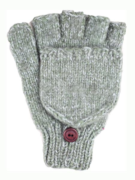 Glitten Convertible Mitten, Seafoam, Alpaca Blend, winter Mittens for the whole family