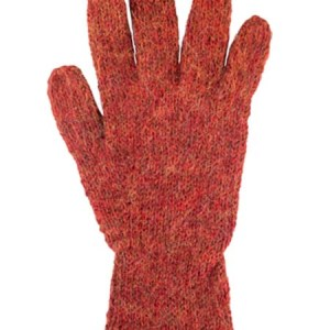 Milkshake Glove, Rust 100% Alpaca, winter glovess for the whole family
