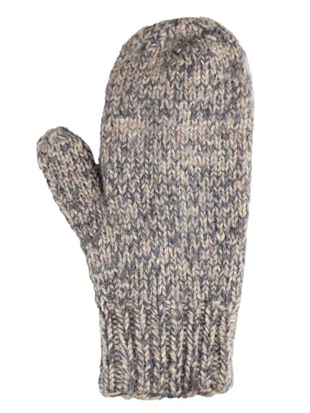 Blended Mittens, grey , Alpaca Blend, winter Mittens for the whole family