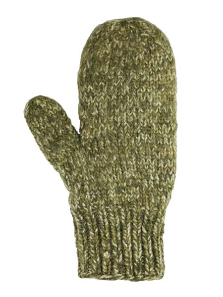 Blended Mittens, Olive, Alpaca Blend, winter Mittens for the whole family