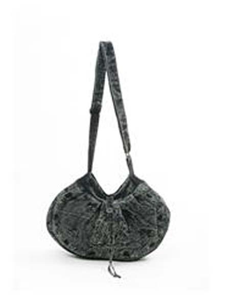 Black Stonewashed Sling Bag