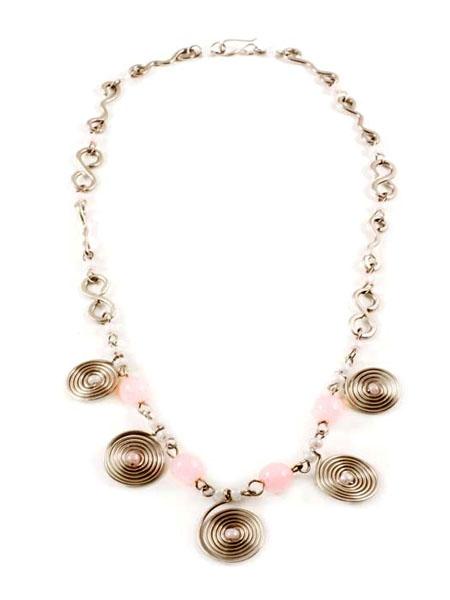 Pink Spiral Necklace