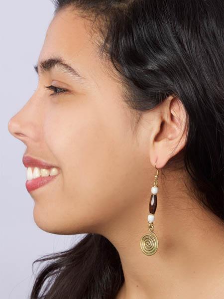 Caramel Mocha Swirl Earrings
