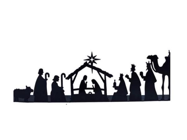 Metal Nativity Scene