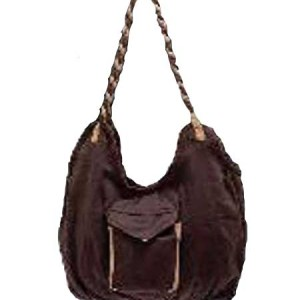 Woven Hobo Bag Brown