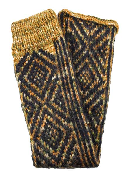 Incas Leg Warmer Alpaca Blend, Brown, Winter accessories for the whole family