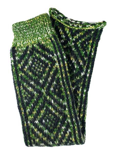 Incas Leg Warmer Alpaca Blend, Green, Winter accessories for the whole family