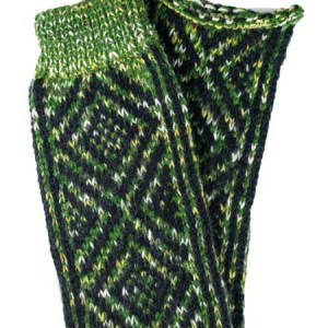 Incas Leg Warmer Alpaca Blend, Green, Winter accessories for the whole family