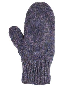 Blended Mittens, Grape, Alpaca Blend, winter Mittens for the whole family