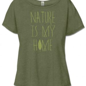 NATURE IS MY HOME SHORT SLEEVE SLOUCH TOP