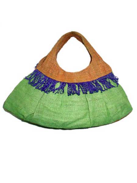 Hemp Small Purse whit fringes on the front of bag