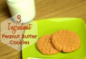 This three ingredient cookie is perfect for cooking with kids. Delicious, easy and totally cheap! Plus, it's gluten free and takes less than 30 minutes from start to warm, melt in your mouth finish.