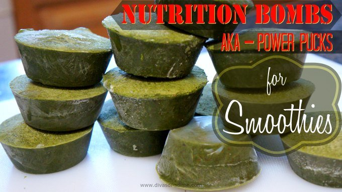 Supercharge your smoothie with DIY Nutrition Bombs. Easy and cheap to make and keep in your freezer to toss in with your next smoothie for a big boost in nutrition.