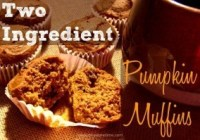 Delectably moist pumpkin muffins made with only two ingredients? YES! So easy, you'll make them again and again.