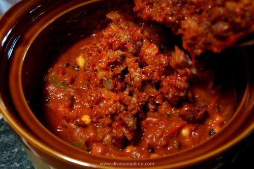 The perfect autumn meal. This vegetable filled chili gets its unique flavor from sweet Italian sausage. Family friendly comfort food at its best. A great recipe for Halloween!
