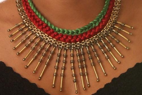 Statement ethnic necklace
