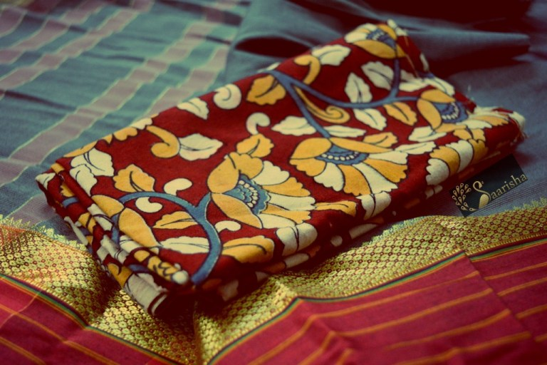 How to style sarees and Kalamkari blouses, Divassence Indian fashion blog, Chennai Saarisha ethnic store