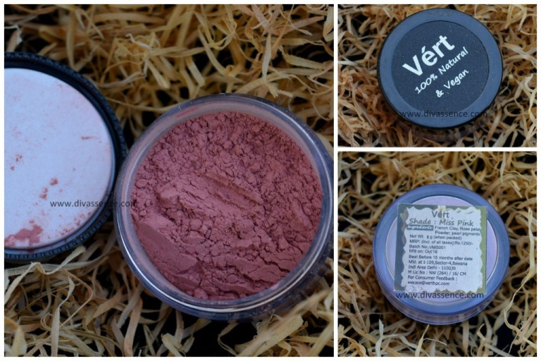My Envy Box India October 2016 Vegan makeup, Vert Vegan makeup blush price, review