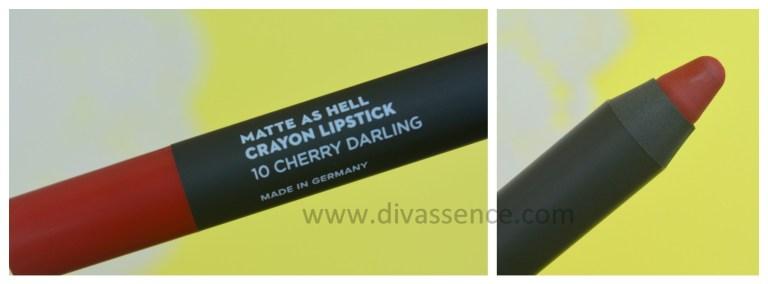 Sugar Matte as Hell Lipstick Cherry Darling