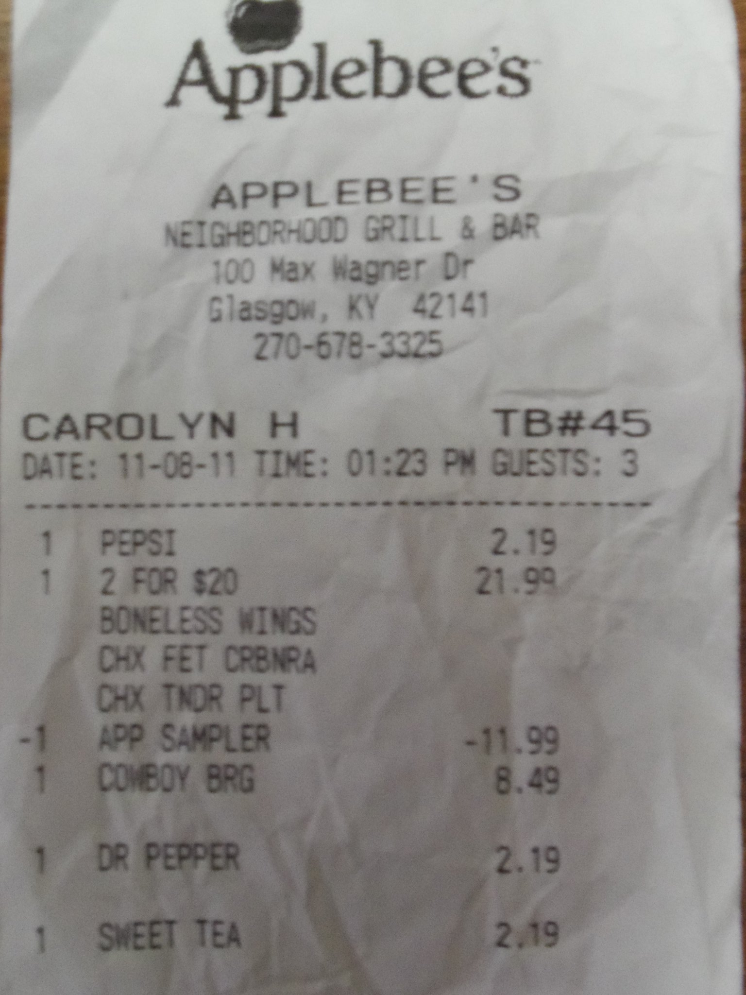 Applebees Menu Appetizer