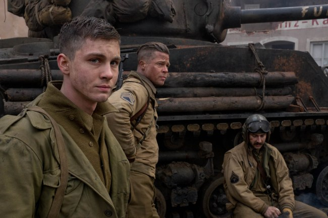 Brad Pitt;Shia LaBeouf;Logan Lerman