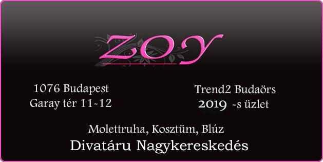 Zoy Divat; Molettruha, Kosztüm, Blúz, Divatáru Nagykereskedés