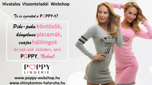 Shiny POPPY Köntös és Hálóruha Webshop