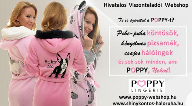 SHINY Pihepuha Köntös és Hálóruha webshop  Poppy Lingerie b884a5a7ef