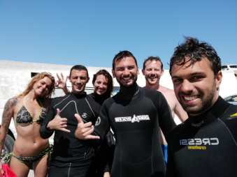 Diving buddies!