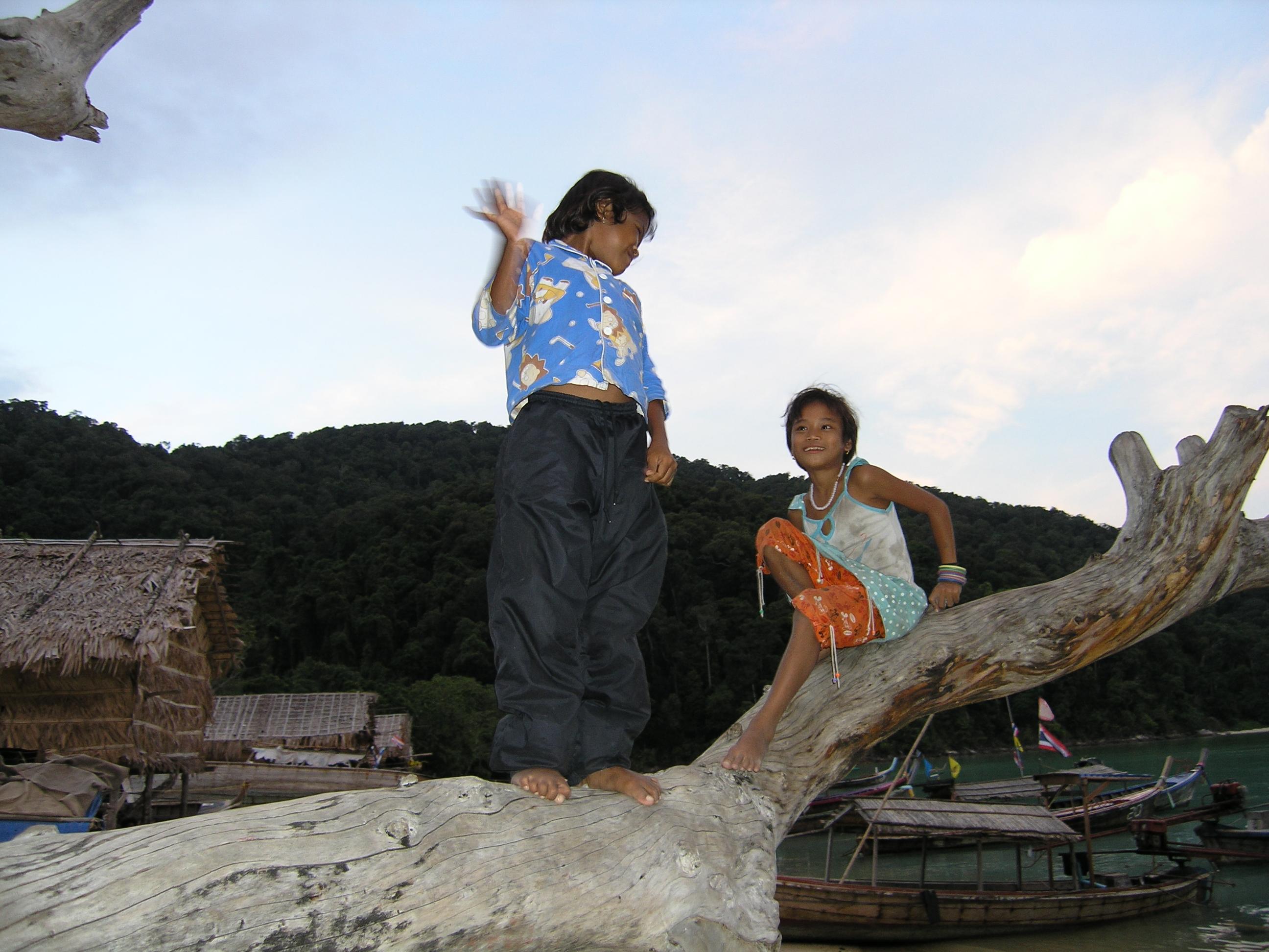 Moken Village Kids