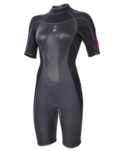 883ce15d80 Fourth Element Black Fucshia Xenos Shortie Wetsuit 3mm - Womens ...
