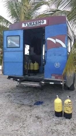 Bay of Pigs dive bus