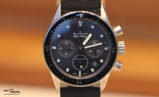 Blancpain_Fifty_Fathoms_Bathyscaphe_Chrono_SS_Front_Zurich_2014