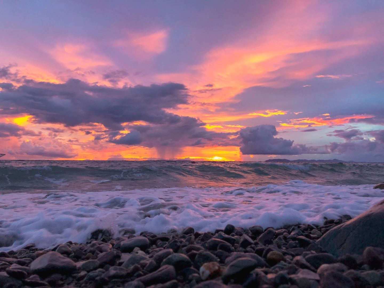 Sunset view in Aquaventure Dive Resort in Anilao, Batangas