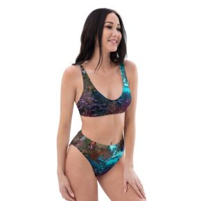 Diver Dena's Adventure Shop-Spectacular Reef Recycled High-Waisted Bikini