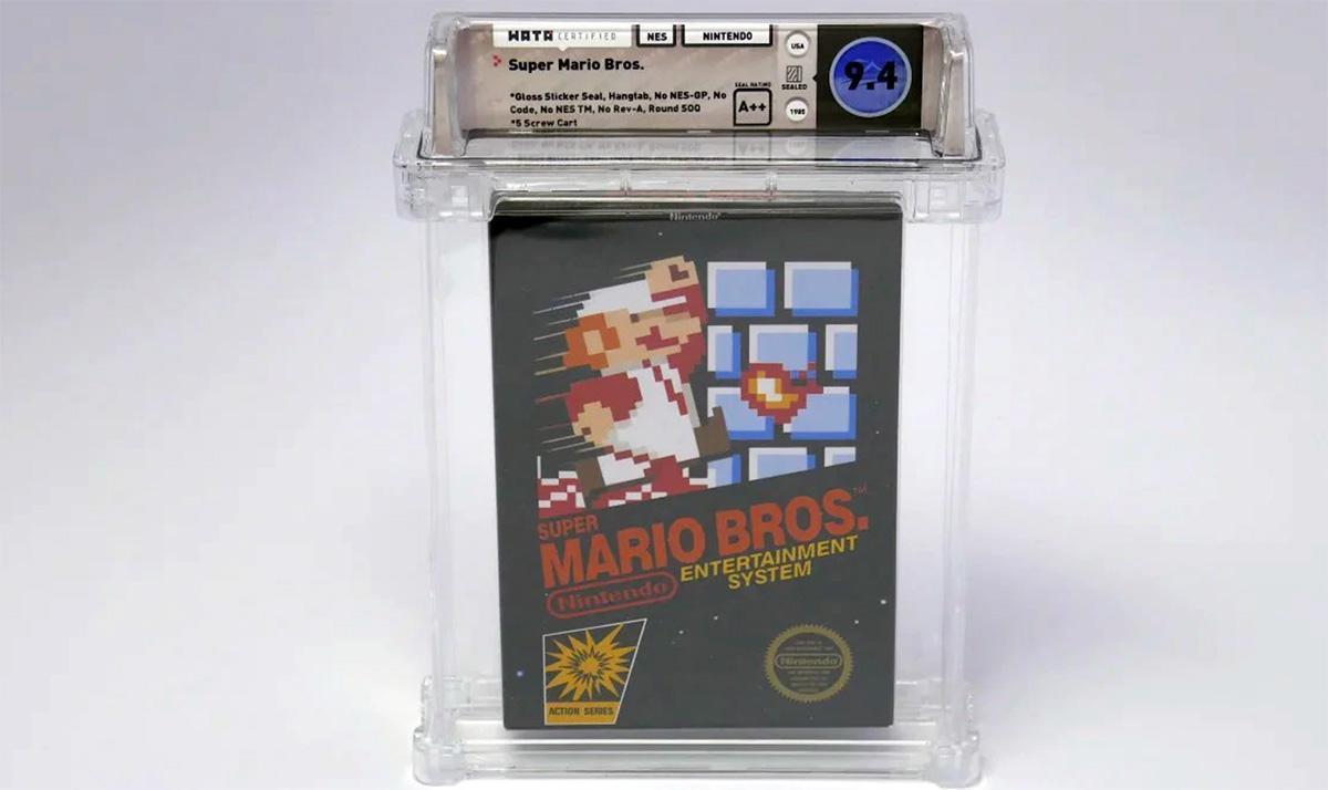 Juego de Super Mario Bros sin abrir, el más caro de la historia